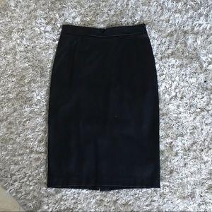 Faux-leaher pencil skirt